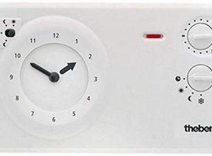 analoges Uhrenthermostat mit Tages- und Wochenprogramm, Raumtemperaturregler, Raumregler, Thermostat – Theben 7220030 RAM 722 RAMSES