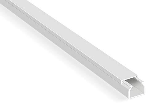Kabelkanal mit Schaumklebeband fertig für die Montage – 20m Kabelkanäle Selbstklebend Weiß 15×10 mm / 20x 1m
