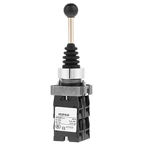 1pc Joystick Schalter, Durable Joy Stick Controller Spring Return Schalter 4 Positionen Control Replacement Industrial Switches Schwarz