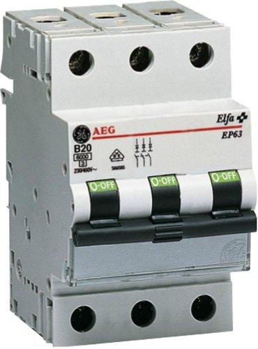 GE Leitungsschutzschalter 3-polig, 16A, B-Charakteristik 230/400V, EP 63 B 16, 566.584