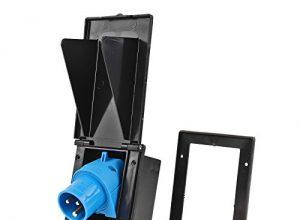 Powerpart CEE Aussensteckdose schwarz Spritzwasser geschützt 200-250V, 16A, 3 polig