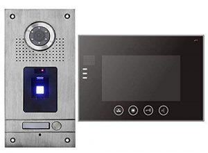 """Fingerprint Türsprechanlage 7"""" Monitor Gegensprechanlage Video Bildspeicher"""