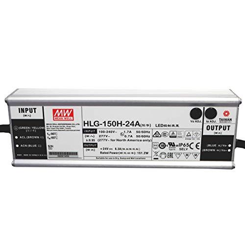 HLG-150H-24A: MEAN WELL LED-Netzteil 150W, 24V, IP65, Spannung & Strom einstellbar 24V 150W