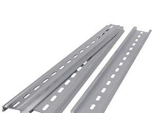 Taiss/3 Stücke DIN-Schiene Schlitz Aluminium RoHS 35mm breit, 7,5mm hoch, lang 300mm/12″