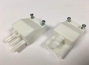 Steckverbindung Stecker und Gegenstück/Anschluß für steckbare Gebäudeinstallation, ST18/3S C1 ZEV WS RD, 3-polig, unmontiert, mit Zugentlastung und Verriegelung, Stecker: weiss, Zugentlastung: weiss