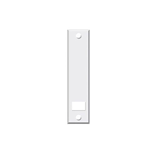 Set 6 Stück jkhandel – – Abdeckplatte Blende mit Lochabstand 16 cm eckig weiß