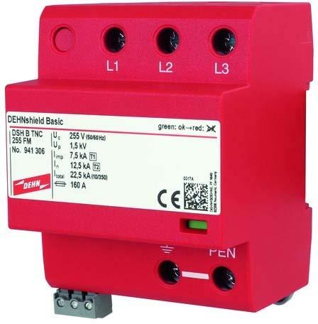 DEHN Anwendungsoptim.Kombi-Abl. DSH B TNC 255 FM Typ 1+2 TN-C-Systeme Kombi-Ableiter für Energietechnik 4013364328068