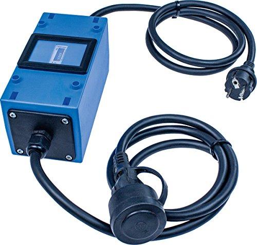 Made in Germany I 61747, Blau – Zwischenstecker Box 230 V – as – Schuko-Stecker und Kupplung – IP44 – Schwabe MIXO Stromzähler/Zwischenzähler – Rücklaufsperre