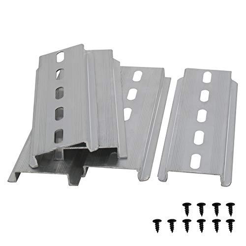 Taiss/5 Stücke DIN-Schiene Schlitz Aluminium RoHS,für Verteilerschrank Schaltschrank einbau, 35mm breit, 7,5mm hoch, lang 100mm/4″