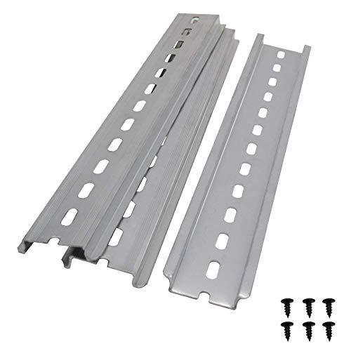 Taiss/3 Stücke DIN-Schiene Schlitz Aluminium RoHS,für Verteilerschrank Schaltschrank einbau, 35mm breit, 7,5mm hoch, lang 250mm/10″
