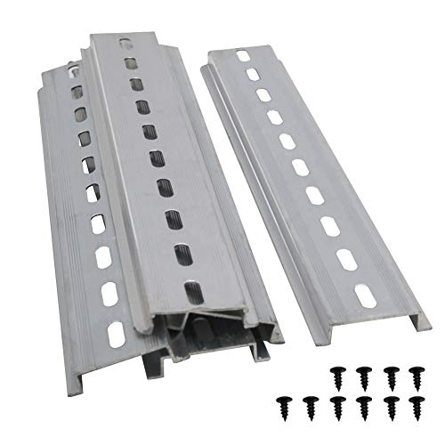 Taiss/5 Stücke DIN-Schiene Schlitz Aluminium RoHS,für Verteilerschrank Schaltschrank einbau, 35mm breit, 7,5mm hoch, lang 200mm/8″