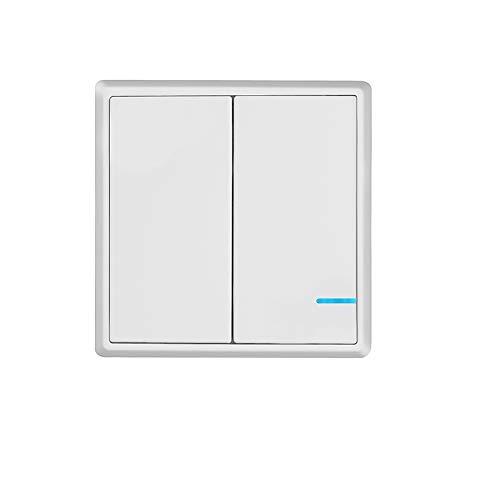 TSSS 2 Kanal Funkschalter Lichtschalter Schalttafel mit LED Anzeige Licht Enthält keinen Empfänger