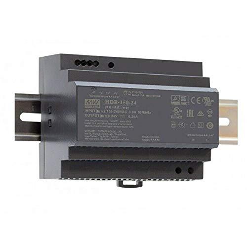 Hutschienen Netzteil 150W 24V 6,25A ; MeanWell HDR-150-24 ; DIN-Rail Trafo