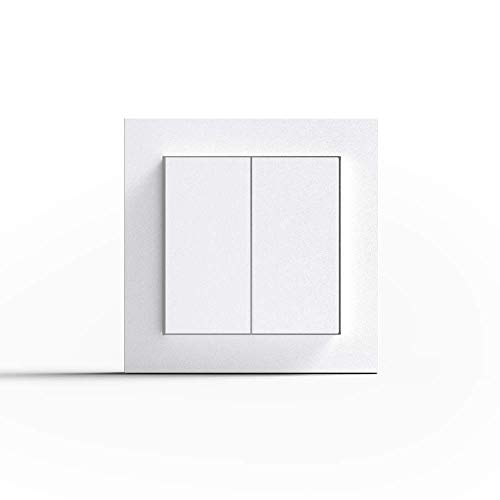Friends of Hue Smart Switch: Kabelloser Philips Hue Schalter und Dimmer Keine Batterien, Kein Aufladen, Exklusiv für Philips Hue Lichter, Weiß