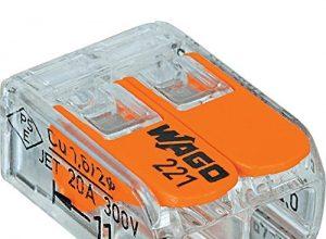 Wago 221-412Steckerleitung mit 2Leitern, kompakte Stecker, 221-412