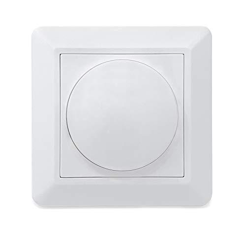 CROWN LED Phasenabschnitt Dimmer 230V Unterputz Dreh- Druckdimmer I Geeignet für 1W-150W I Dimmen von 3% bis 100% I Individuell einstellbar