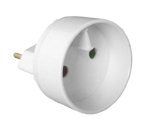 Inotech-Adapter, mit Steckdosen-Adapter M 6A, F, 16A, weiß