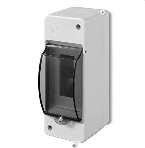 Kleinverteiler IP30 Aufputz Sicherungskasten 1-Reihig für 2 Module Feuchtraum Verteilerkasten Unterverteilung