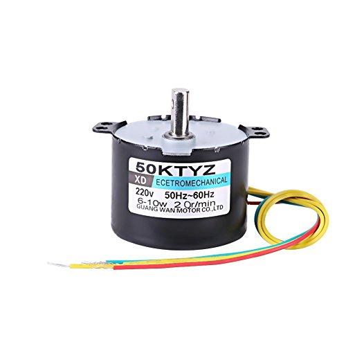 Synchronmotor 50KTYZ Wechselstrom 220V 10W 0.5A Elektrisches Niedriger Motordrehzahl Dauermagnet CW / CCW 2.5 / 20RPM Hohes Drehmoment Metall übersetzt für Rotisserie-Drehscheibe20 RMP