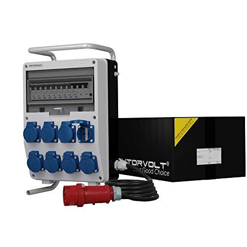 Stromverteiler TD-S/FI 8x230V Kabel 5x4mm2 SKHU 32A Stecker & Ständer Baustromverteiler Doktorvolt® 0342