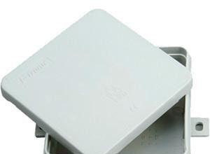 Kopp 348804003 Abzweigdose Aufputz-Feuchtraum, ohne Klemmleiste, IP 54, 100 x 100 x 40mm
