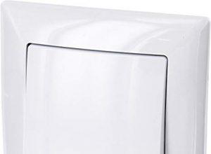 All-in-One – Rahmen + Unterputz-Einsatz + Abdeckung Serie G1 reinweiß – UP Ein-/Ausschalter mit LED-Beleuchtung