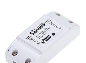 SONOFF Drahtloser Fernschalter Basic WiFi Switch Kompatibel mit Alexa für Google Home Timer 10A / 2200W für Android/IOS APP-Steuerung für Elektrogeräte Universal Smart Home Automation Module