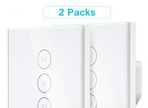 2 Packs – Schaltbares LED Alexa Rolladen Zeitschaltuhr, Etersky Smart Wlan Schalter für Rollladen Jalousien, Kompatibel mit Alexa und Google Home, Touch Panel, SmartLife App Fernbedienung und Timer