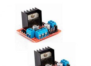 Neuftech 2PCS L298N Dual H-Brücke DC Stepper Motortreiber Schrittmotor Controller Modul für Arduino