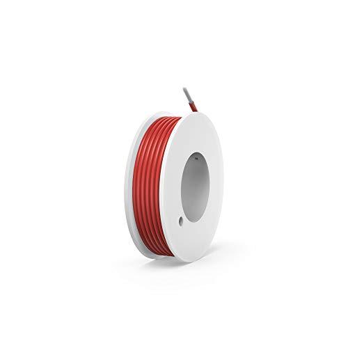 NorthPada 18 AWG 0,8mm² Elektronik Elektrischer Draht Kit Litzen Silikon Leitungen Draht Verzinntes Kupfer Kabel Spule für Leiterplatte PCB 600V 7,5A -60°C – +200°C 4 Meter Rot