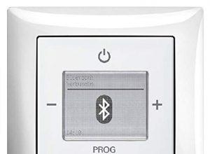 Busch Jäger Unterputz UP Bluetooth Radio 8217U Balance SI alpinweiß glänzend – Set mit Radioeinheit 8217 U, Rahmen und Radioabdeckung