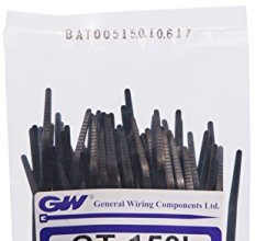 GW Kabelbinder-Technik, Kabelbinder 150 x 3,6 mm, schwarz, 1000 Stück, GT-150IB