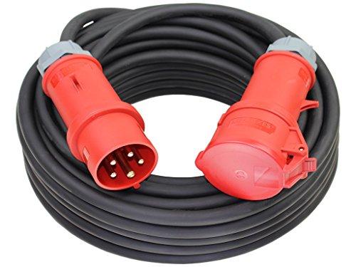 CEE Starkstromkabel 400V 32A 5x4mm² H07RN-F mit MENNEKES Stecker und Kupplung -25m-