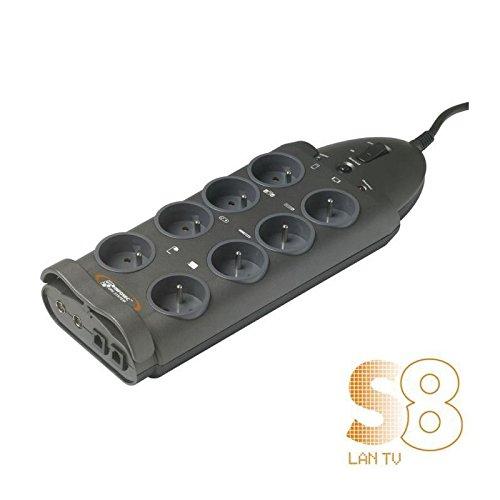 INFOSEC PRISE PARASURTENSEUR 8 PRISES S8 LAN TV
