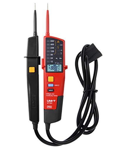 Spannungstester, UNI-T UT18C Multifunktion Wasserdichte Digital Voltage Meter Voltmeter Spannung Tester 12V~690V AC/DC Automatische Reichweite LCD Anzeigen