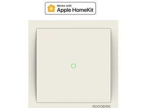 Koogeek Wifi Smart Lichtschalter 220~240V funktioniert mit Apple HomeKit Unterstützung Siri Fernbedienung 1 Way Lichtschalter