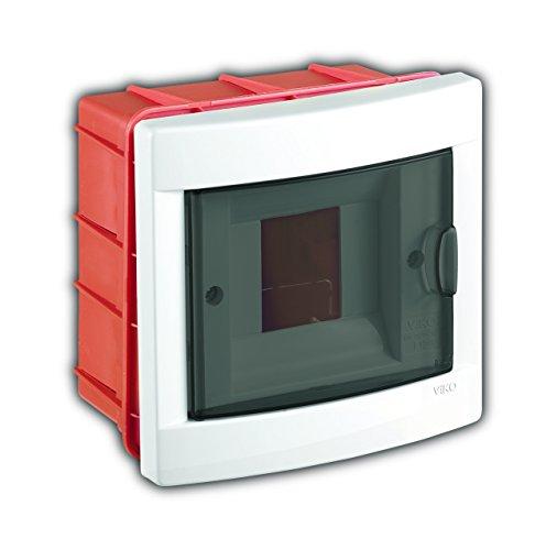 Unterputz Kleinverteiler 4 Module / Sicherungskasten / Verteilerkasten Unterputz IP40, 1-reihig mit Hutschiene