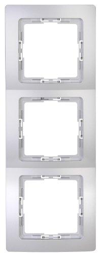 Kopp 308620061 3-fach Rahmen Paris, silber