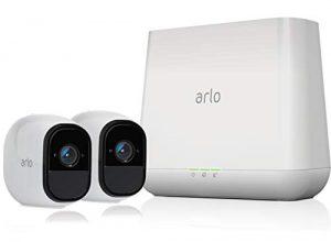 Arlo Pro Smart Home 2 HD-Überwachungskameras und Alarmanlage 100% kabellos, 720p HD, 130 Grad Blickwinkel, WLAN, Bewegungsmelder, Nachtsicht, Indoor/Outdoor, 100 dB Sirene weiß, VMS4230