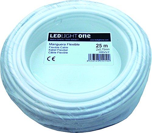 Kabel H05VV-F 2x 0,75mm 25m Schlauch weiß