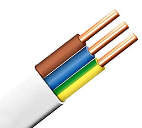 Flach Feuchtraumkabel Leitung Installationsleitung YDY NYM-J 3×2,5 mm² 10m 1,31€/m