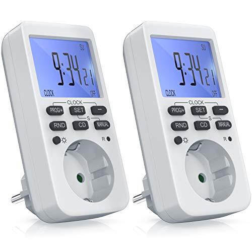 3680W – mit LCD-Display Beleuchtet – LED-Statusanzeige – 10 konfigurierbare Programme – Zufallsschaltung – Wochenzeitschaltuhr – 12 24h-Modus – 2x Zeitschaltuhr digital – CSL