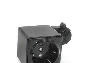 CLE Steckdose schwarz für Stromschiene Staff Erco Hoffmeister Eutrac SLV Lival UNIPRO 3 Ph Adapter