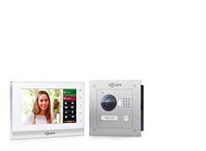 GOLIATH IP 2 Draht Video Türsprechanlage mit 1,3 Megapixel Kamera 150°, 7″ Touchscreen, Smartphone Handy App, Türöffner, Gegensprechanlage, Video-Sprechanlage, Unterputz Außenstation, Einfamilienhaus Set