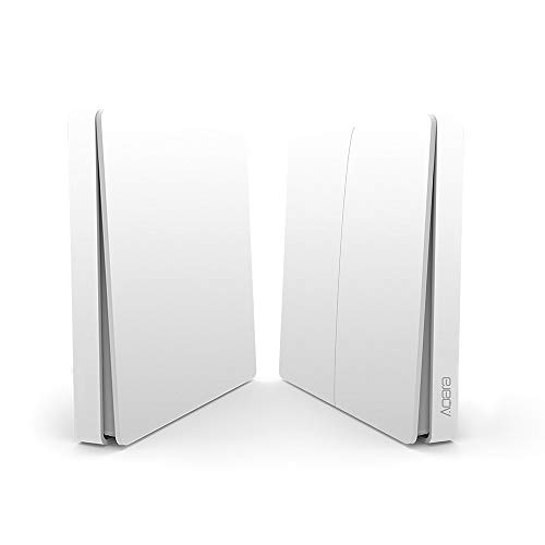 Blusea Aqara Wandschalter Intelligente Türklingel Lichtsteuerschalter WiFi 2,4 Ghz Drahtlose Fernbedienung Home Kit von Mi Home App DoubleKey