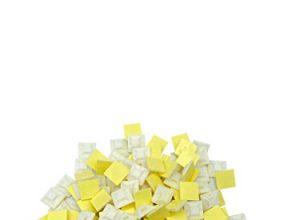 100 Stück Kabelbinderhalter in Weiß, selbstklebend, strong glue, 20mm x 20mm, Klebesockel, Kabelschelle, Schraubsockel, Kabelmanagement, Klebepads, Kabelklemmen zur Befestigung und Montage von Kabeln