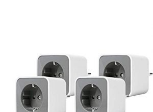 LEDVANCE Smart+ Plug, ZigBee schaltbare Steckdose, für die Lichtsteuerung in Ihrem Smart Home, Direkt kompatibel mit Echo Plus und Echo Show 2. Gen., Kompatibel mit Philips Hue Bridge, 4er Pack