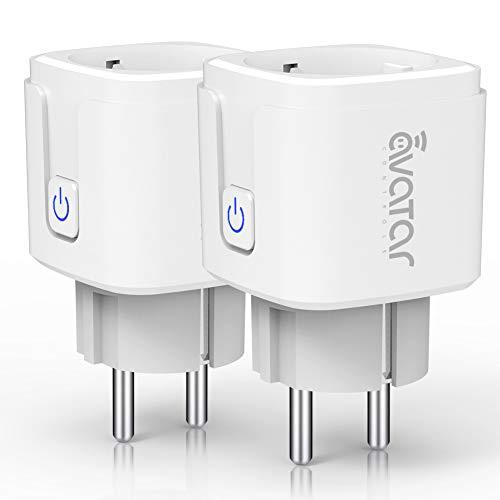 Wlan Smarte Steckdose, Alexa Smart Plug Avatar Controls Smart Home Steckdosen funktionieren mit Google Home und IFTTT 2 Pack