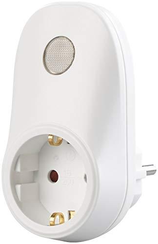 revolt Übergangsstecker: Steckdosen-Adapter mit Lichtsensor, 230 Volt, 690 Watt Schaltleistung Zwischenstecker Steckdosenschalter