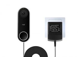 LANMU Netzteil Adapter und 5M Kabel Zubehör für Nest Hello Türklingel EU Stecker